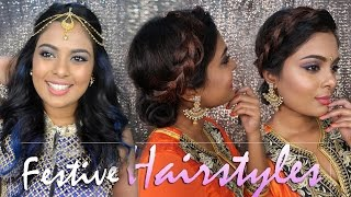 2 Glamorous Quick & Easy Party Hairstyles For Indian Wear Feat. BBLUNT- Heatless Hairstyles