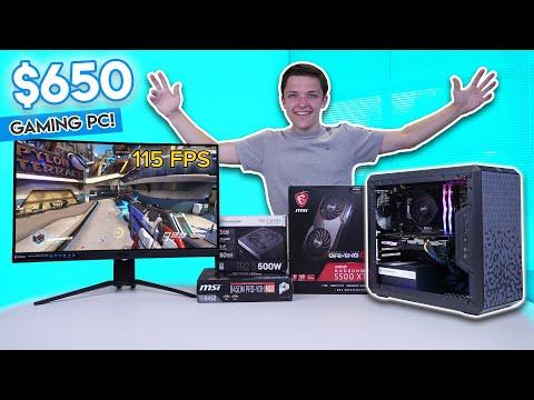 Epic $650 Gaming PC Build 2020! [Ryzen 3 3100 & RX5500 XT w/ Benchmarks!]