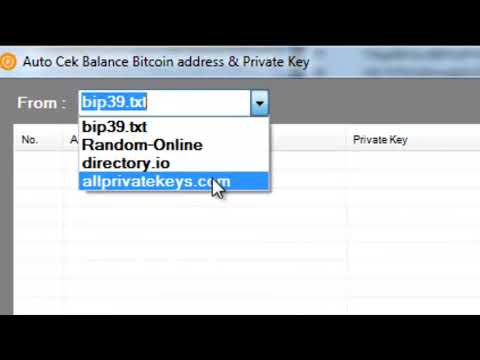 Auto Fast scanner Balance Bitcoin Address & Private Key