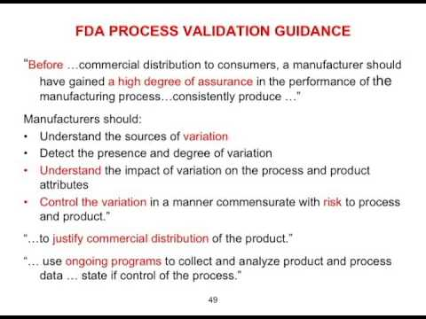 Analyzing the FDA Process Validation Guidance