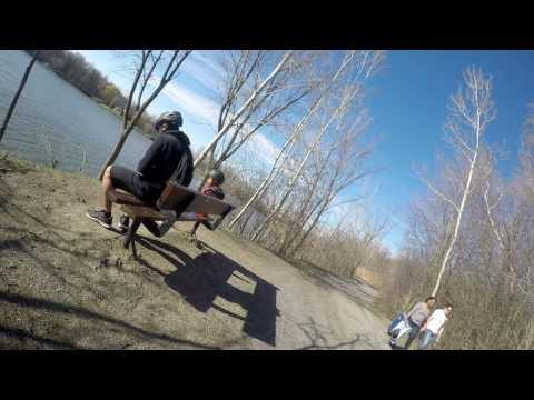Biking with Andrei to Centennial Park - 10+kms
