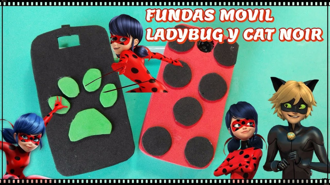 Funda movil Miraculous Ladybug y Cat Noir TUTORIAL ...