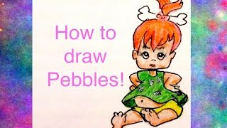how to draw pebbles from the flintstones