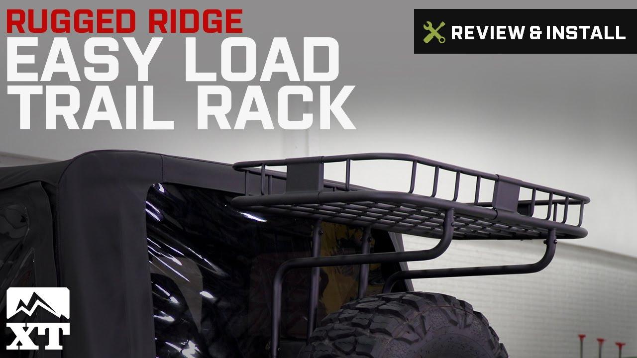 Jeep Wrangler Rugged Ridge Easy Load Trail Rack 19872002 Wrangler YJ  TJ Review  Install
