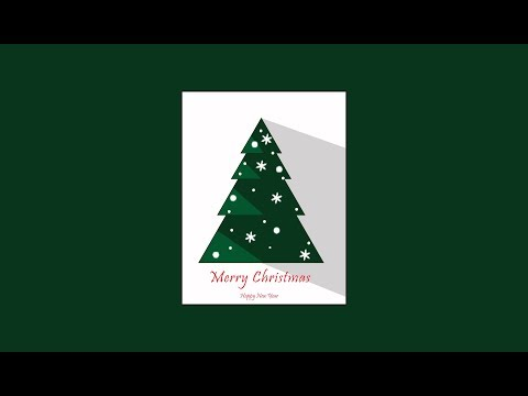 TUTORIAL ADOBE ILLUSTRATOR - HOW TO MAKE CHRISMAS TREE IN ADOBE ILLUSTRATOR - FLAT DESIGN
