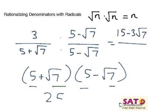 Rationalizing Denominators with Radicals - YouTube