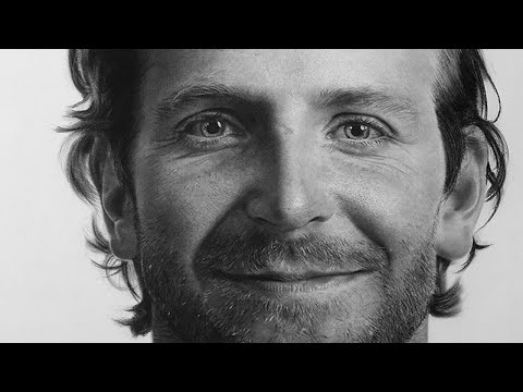 Hyperrealistic Drawing Of Bradley Cooper(Time Lapse)