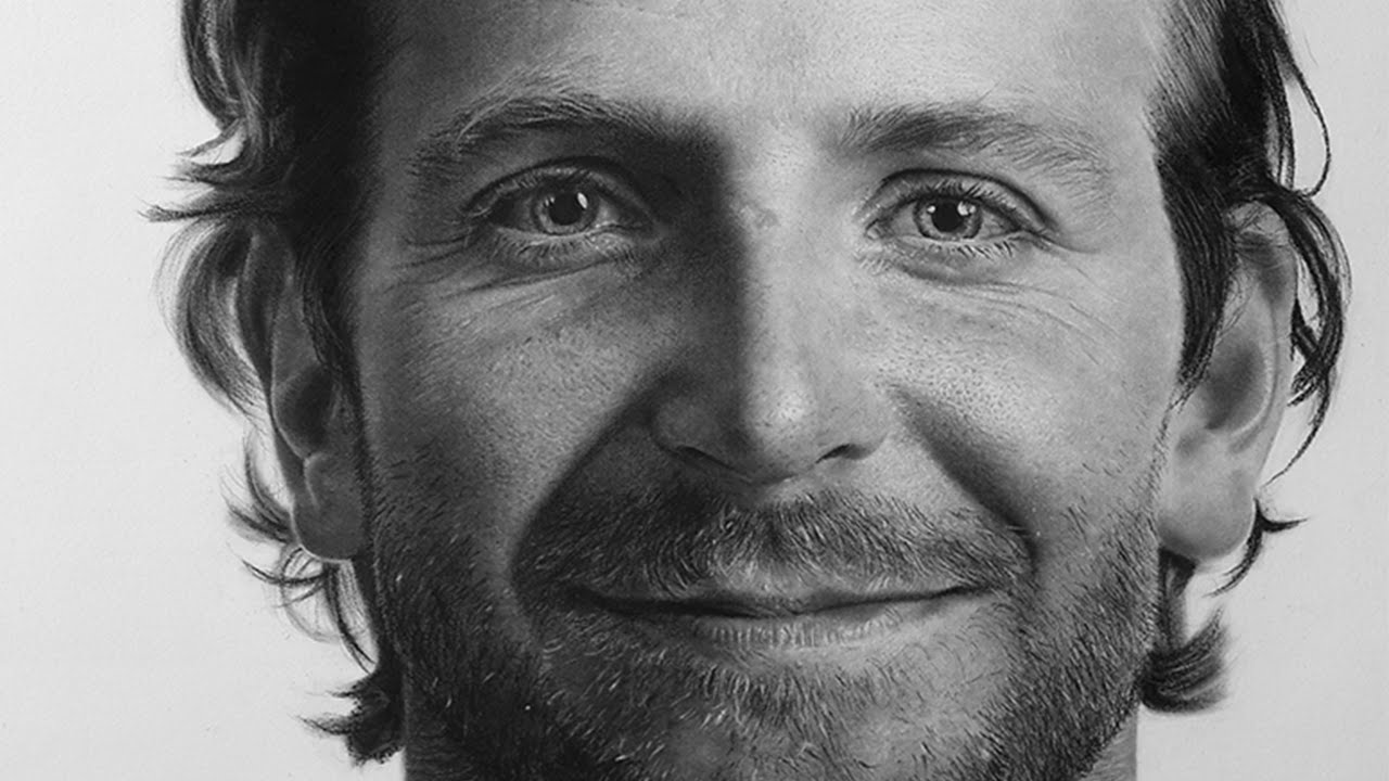 Hyperrealistic Drawing Of Bradley Cooper(Time Lapse) - YouTube  Hyperrealistic ...