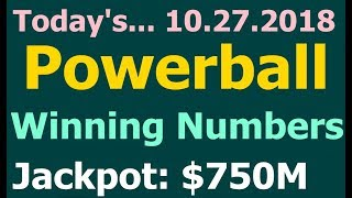 Powerball Winning Numbers 27 October 2018. Today Powerball Wining Numbers 10.27.2018 Drawing