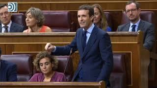 Pedro Sánchez defiende su cacicada parlamentaria y Casado le exige elecciones