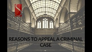 REASONS TO APPEAL A CRIMINAL CASE