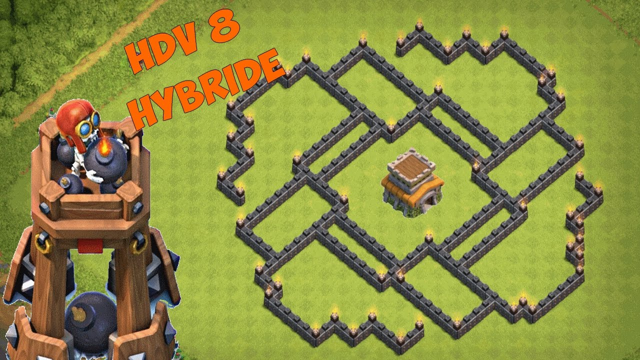 base hdv 8 farm hybride avec tour a bombes post m j octobre 2016 clash of clans youtube. Black Bedroom Furniture Sets. Home Design Ideas
