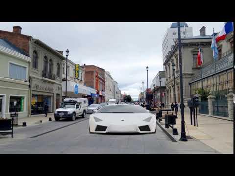 Lamborghini Reventón calle Bories Punta Arenas Chile