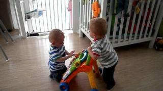 Wim aan de wandel, tweeling broer Bas zit in de weg