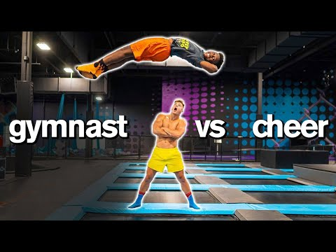 LAST TO STOP FLIPPING WINS TRAMPOLINE PARK! *acro Gymnast Vs World Champion Cheerleader*