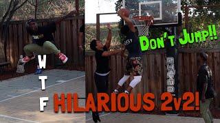 HILARIOUS Backyard Basketball 2v2..!!