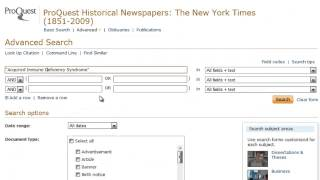 Proquest Historical Newspapers: The New York Times