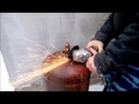 Буржуйка из газовых баллонов своими руками видео 158