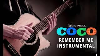 Coco - Remember Me - Lullaby (Instrumental Guitar Cover) Karaoke