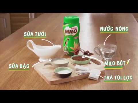 """Công thức """"MILO Trà Sữa năng động""""- Đồ uống năng lượng cho bé yêu"""
