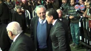 مصطفى حجازي  وجورج إسحاق في عزاء الأستاذ حسنين هيكل