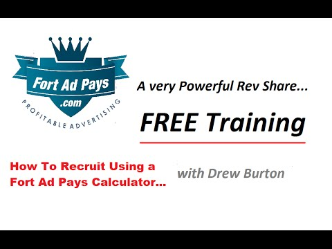 How to recruit using the fort ad pays calculator with drew burton