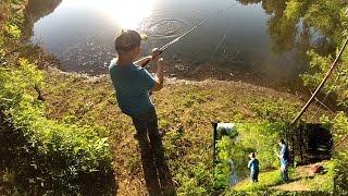 Biggest Fish Challenge 8 Year old Son Vs. Dad (OKBASSHOLE)