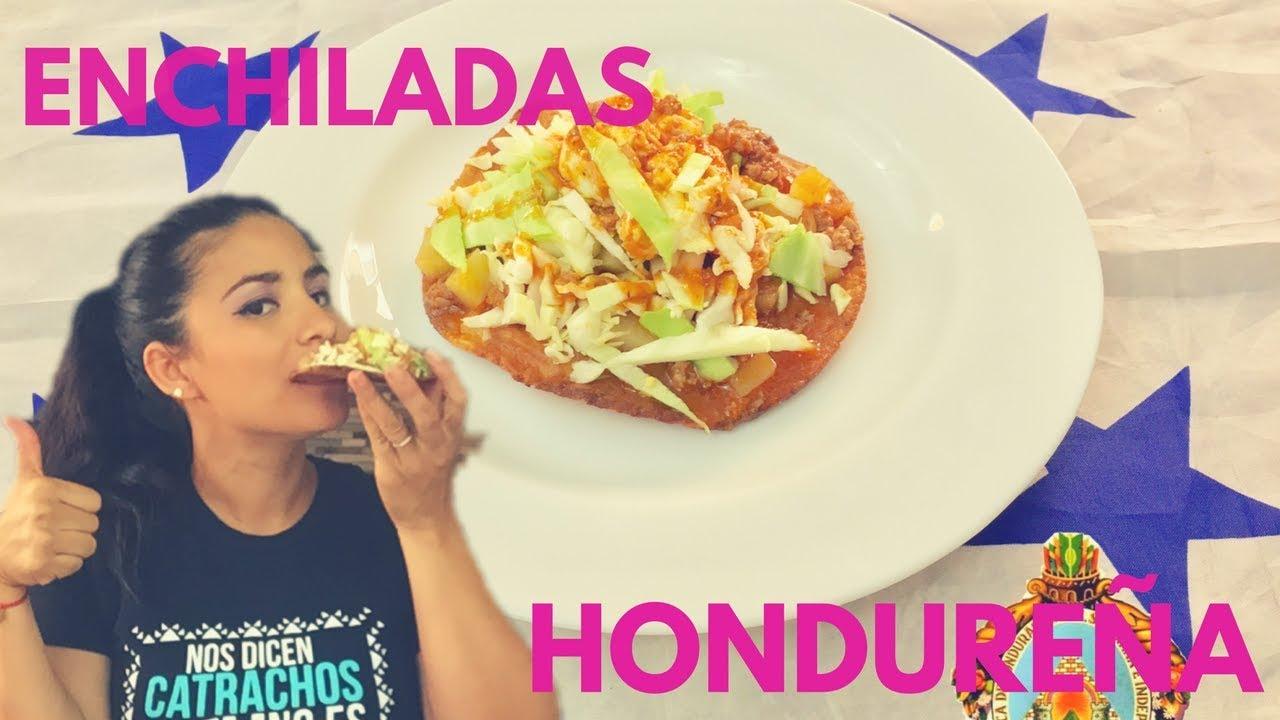 Enchiladas Hondureñas/Comida Típica De Honduras🇭🇳 - YouTube