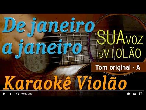 De janeiro a janeiro - Roberta campos - Nando Reis - Karaokê com violão