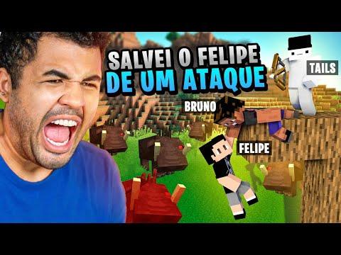 """SALVEI O """"FELIPE NETO"""" DE MONSTROS PERIGOSOS - MINECRAFT S02 #39"""
