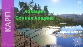 Русская рыбалка 4 - озеро Старый Острог - Карп который одолел