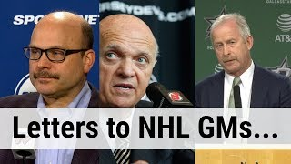 Writing a Letter to Every NHL GM... | Auddie James