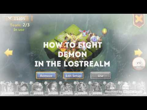 CASTLE CLASH HOW TO DEFEATED DEMON WITH SKILL DEFLECT DAMAGE IN THE LOST REALM