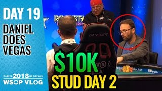 Old School $10k Stud Day 2 - 2018 WSOP VLOG DAY 19