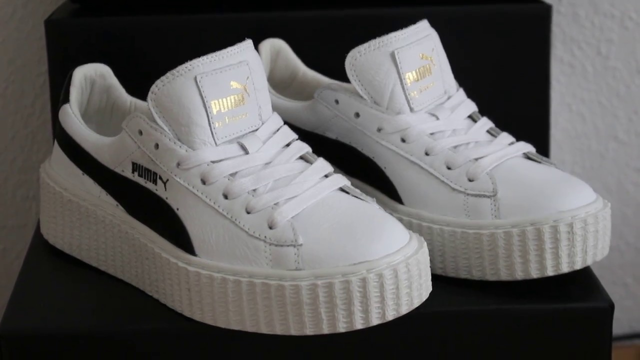 Rihanna x Puma Fenty Creeper Cracked Leather Unboxing and Review ... 797b47f1a