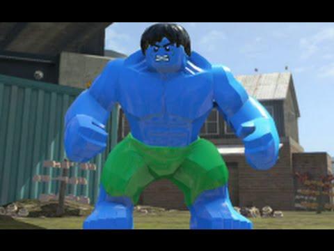 LEGO Marvel Super Heroes - Blue Hulk Free Roam Gameplay (PS4)