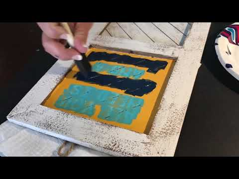 How to Paint a Wood Sign using a Cricut Stencil