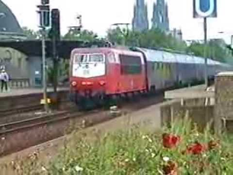 CNL 212 CityNightLine -  Donau-Kurier (Wien Westbf - Dortm-Hbf ) 1995 in Köln CNL-VIDEO 1