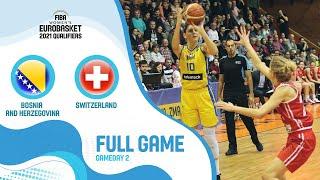 LIVE - Bosnia and Herzegovina v Switzerland - FIBA Women's EuroBasket Qualifiers 2021