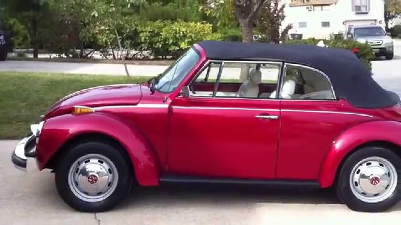 Vw Beetle Karmann Convertible Limited Edition 1975 Rare 1 Youtube Volkswagen Ghia
