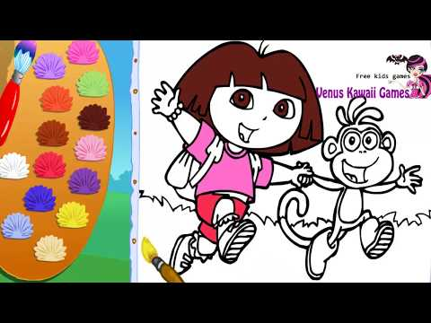 Color with Dora and Boots Coloring Game | Venus Kawaii Games