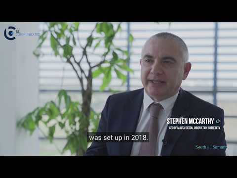 South EU Summit Interview with Stephen McCarthy - CEO of Malta Digital Innovation Authority (1/3)