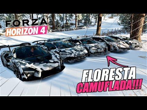 FIZEMOS O BILU DE TROUXA KK  FLORESTA CAMUFLADA NA NEVE  FORZA HORIZON 4