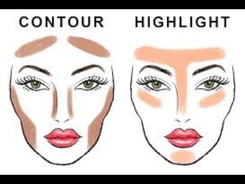 Face Contour Map Face Mapping For CONTOUR | Contouring and Highlighting | Round  Face Contour Map