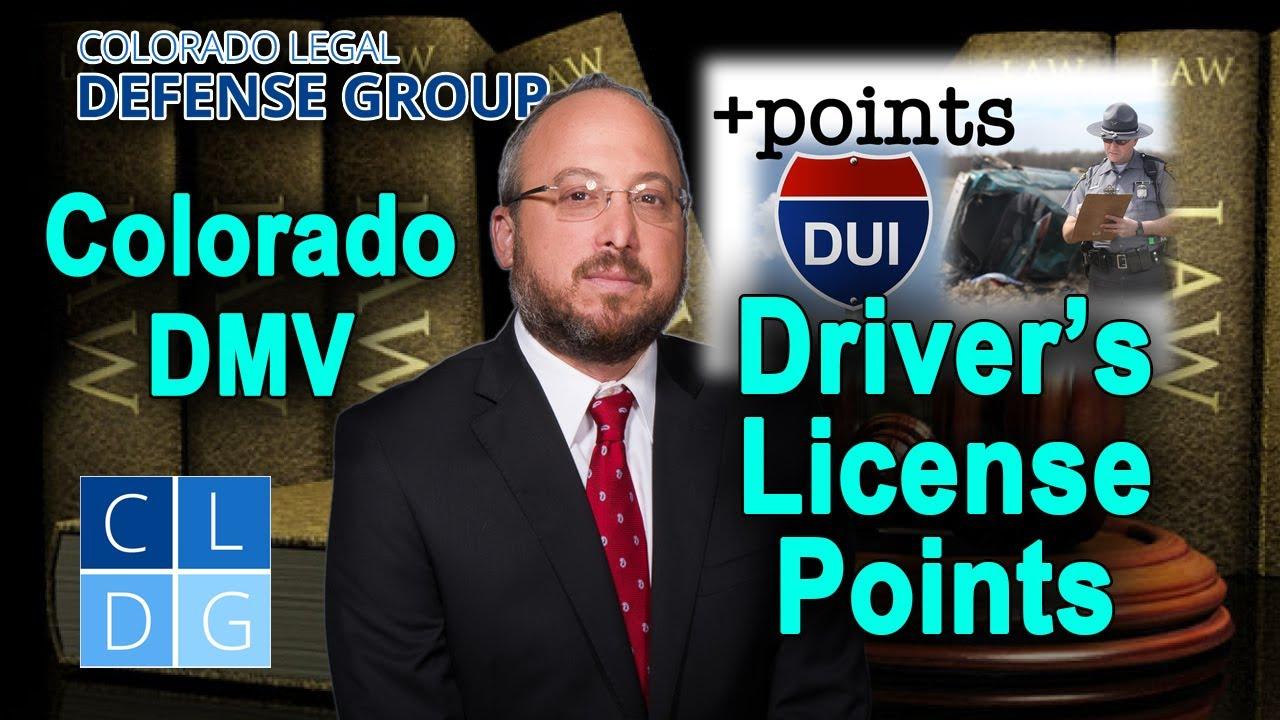 colorado dmv drivers license points
