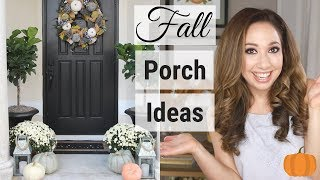 FALL FRONT PORCH DECOR 2018: Decorate with me!