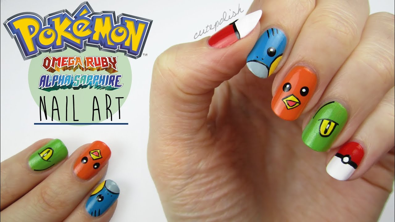 Pokemon Omega Ruby & Alpha Sapphire Nails! - YouTube