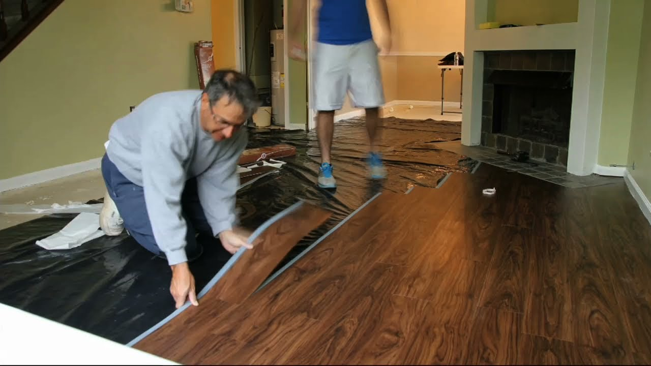 allure flooring installation - timelapse - youtube