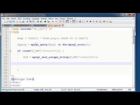 PHP Basics: Delete record