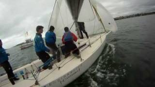 J80 Nextel Sailing in Santander - 21st January 2012 - Race 1. Recorded with Gopro